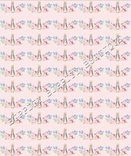 """""""PETER RABBIT & JEMIMA""""  CANVAS PRINTED FABRIC SHEET.HAIR BOWS EXCLUSIVE"""