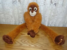 "Fao Schwarz Soft Monkey Plush 17"" Long 2011 Toys R Us Brass Button on Butt"