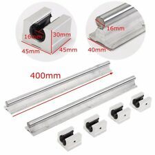 2 SBR16-400mm 16MM Linear Slide Guide Shaft Rails +4 SBR16UU Bearing Block CNC