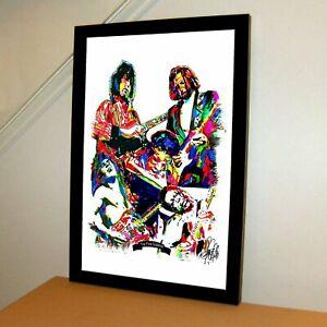 Top 5 Guitarists Page Van Halen Hendrix Clapton BB King Music Poster Print 11x17