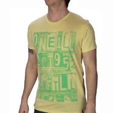 O 'Neill Para hombre Haze Oro Amarillo licencia para relajarse Manga Corta Camiseta Pequeño BNWT
