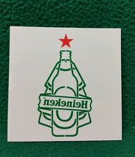 "Set of 10 Green 'Heineken' Beer Temporary Tattoos  3""x3"""