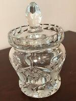 Vintage Cut Crystal Jelly Jam Jar with Lid