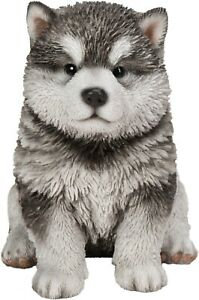Pet Pal Malamute Puppy Highly Detailed Garden Decoration