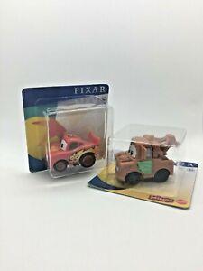 Disney Pixar Minis 2.5cm Mini Figures, Cars Lightning McQueen & Mater Brand New