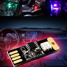 Mini USB Colorful LED Car Interior Light Voice Control Atmosphere Ambient PLV