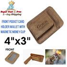 Minimalist Front Pocket Wallet Slim Leather Money Clip Card Holder RFID Secured