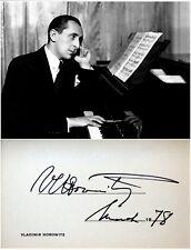 Pianist VLADIMIR HOROWITZ Hand SIGNED AUTOGRAPH + PHOTO + DECORATIVE MAT Jewish