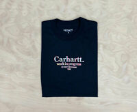 Carhartt Wip Commission T Shirt  Black graphic Embroidery Streetwear Mens