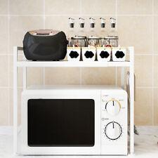 Adjustable Modern Microwave Oven Rack Stand Shelf Kitchen Storage Organiser