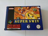 Super Swiv - Super Nintendo SNES Game [PAL UKV] CIB