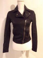 Hollister Black Faux Leather Biker Moto Style Jacket Women XS