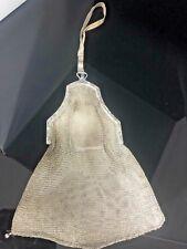 Vintage Whiting & Davis Co.5 sterling silver bag, 8in, 173gr