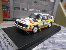 AUDI Quattro Sport Rallye Portugal TAP 1985 #5 Röhrl Trofeu + Decals H B 1:43