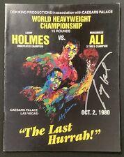 Larry Holmes Signed Fight Program 10/2/80 Boxing Autograph vs Muhammad Ali JSA