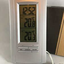 Home Digital Indoor/Outdoor Weather Station Clock Calendar Thermometer Battery