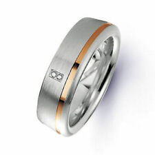 Diamond Band Multi-Tone Gold Rings for Men