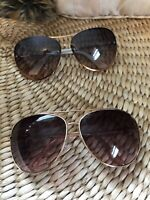 aviator sunglasses lot Of 2