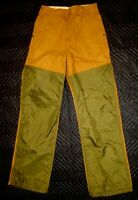 SAF-T-BAK Briar Brush Bird Brown Hunting Pants CANVAS DUCK Made in USA 28 x 32