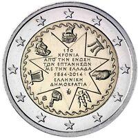 Griechenland 2 Euro-Münze 2014 bfr. 150 Jahre Union der Ionischen Inseln