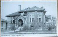 Harvey, IL 1930s Postcard: Public Library Building - Illinois Ill