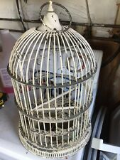 Vintage  Wire Metal Bird Cage Well Made Solid  Decor Collector Rare & Nice Look.
