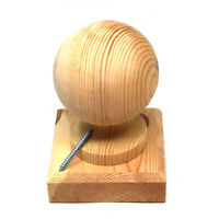"""WOODEN FINIAL 3"""" 75mm BALL + FENCE POST CAP TO SUIT 3"""" x 3"""" (75mm) FENCE POSTS"""