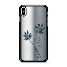 Blue Floral Space Flowers Printed Fabulous Aluminum Metal 2D Phone Case Cover