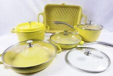 Cook's Companion Cast Aluminum Ceramic Nonstick 10-Piece Cookware Set Yellow