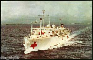 USS Sanctuary AH-17 postcard USNavy hospital ship (cd2) 100% Doctors w/o Borders
