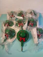 """9 Christmas hats hook hanger on suction cup 2.7"""" x 4"""""""