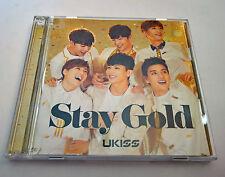 U-KISS 11th Single Stay Gold Japan Press CD+DVD Version K-POP