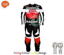 Giacche copertura in pelle rossa per motociclista