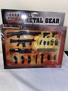 Elite Force Full Metal Gear Real Diecast Metal Weapons  Terminate Series 1