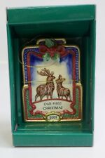 Fitz And Floyd 2001 Our First Christmas Ornament In Original Box