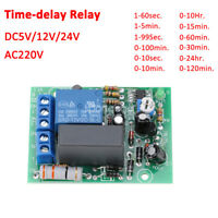 5/12/24/110/220V Trigger Delay Switch Turn Off Board Timing Timer Relay Module H