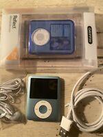 Apple iPod Nano 3rd Generation 8 GB Blue NEW BATTERY REFURBISHED BUNDLE