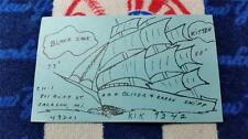 """HAM CB RADIO QSL Trading Card """"BLACK JACK & KITTEN - OLIVER SHIPP -JACKSON MI"""""""