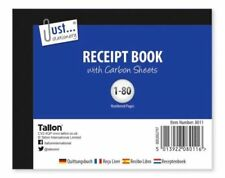 Half Size Receipt Book Invoice Pad 80 Pages With Carbon Sheets (D3)