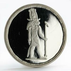 Egypt 5 pounds The God Khnoum walking right proof silver coin 1994
