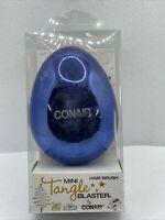Conair Mini Tangle Blaster Hair Brush Blue New