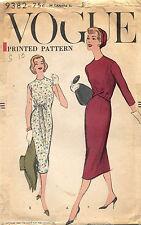 1950's VTG VOGUE Dress Pattern 9382 Size 10