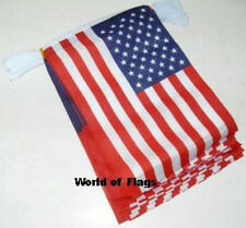 USA BUNTING America American US Flag Stars & Stripes 9m 30 Polyester Party Flags