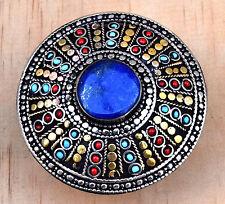 Lapis Lazuli Ring Tribal Ethnic Carved Gypsy Boho Jewelry Afghan Kuchi Bohemian