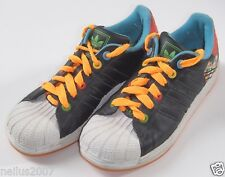 Adidas Black & Multicolour Trainers Shoes UK 4 Older Orange Laces Sole