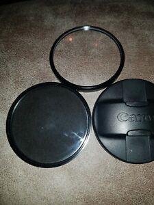 Canon 72mm Centre Pinch Snap/on Front Lens Cap + Jessops circle poloriser + nove