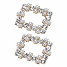 Shoe Clip Women Shoes High Heel Decoration Pearl Rhinestone Clips Charms Buckle
