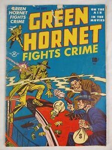 Green Hornet Fights Crime #35 (1947 Harvey) DC Golden Age Comic Book, RARE 4.5