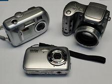 Lot of 3 Digital Cameras. Kodak EasyShare Cx7300, Z740. Vivitar ViviCam 9112.