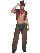 Fever Male Ride Em High Cowboy Adult Mens Smiffys Fancy Dress Costume